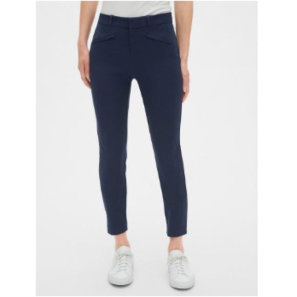 GAP Pants - GAP True Straight Navy Pants Ankle Length 6A NWT